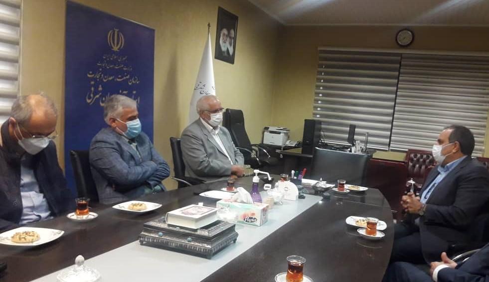 دیدار هیأت رئیسه انجمن مدیران صنایع با سرپرست جدید سازمان صمت استان